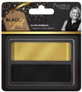 "Sara Signature : Black & Gold - Satin Ribbon 0.75"" (2pk)"